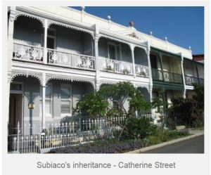 Catherine Street Terrace houses