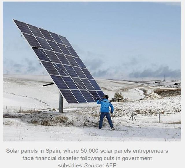 Solar panels spain Benny peiser article