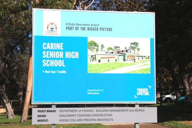 Carine SHS sign