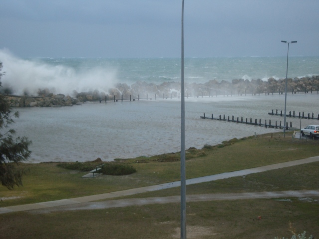 Standard stormy day at the Ocean Reef Marina 2009, Perth's windiest place
