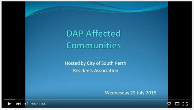 DAP meeting video image