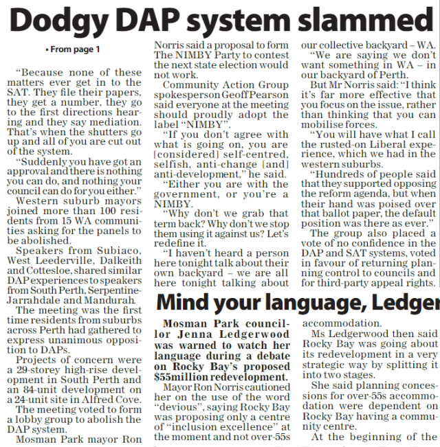 Dodgy DAP system slammed pg 68