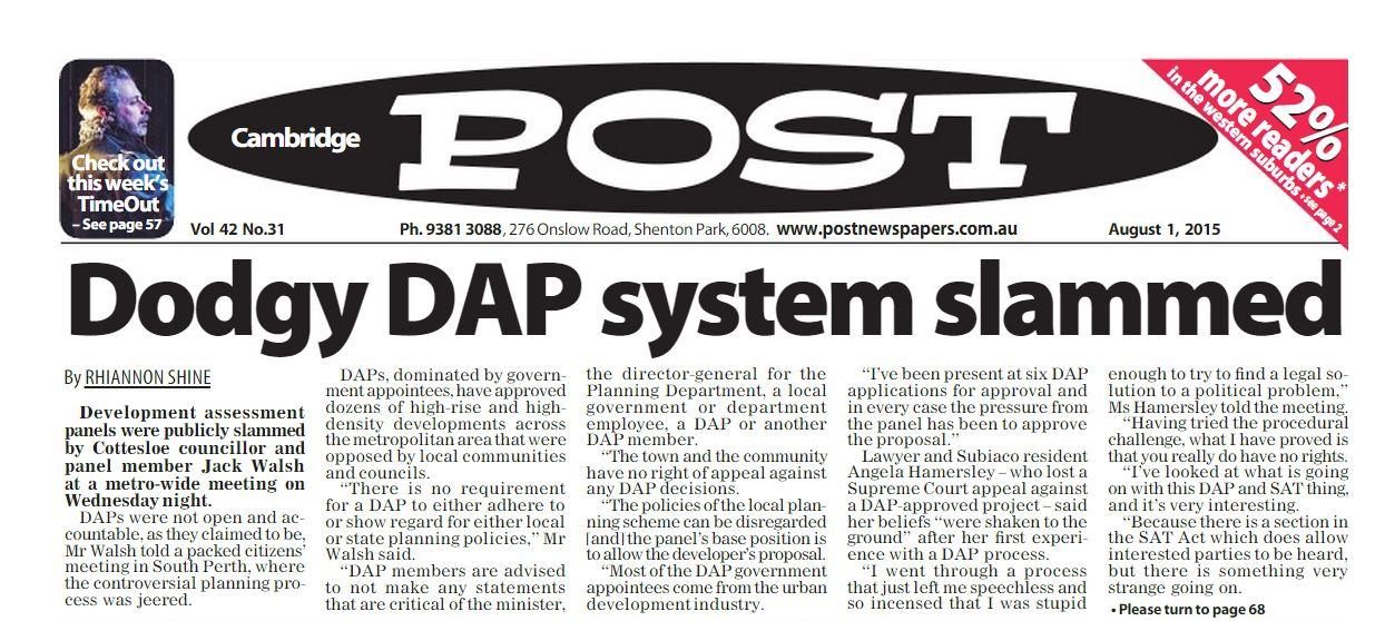 Dodgy DAP system slammed Post 01 08 15