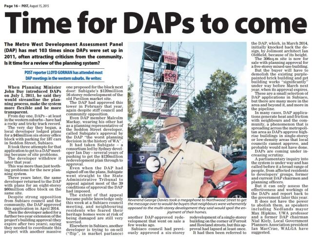 Time for DAPs to come Post 150815 p16