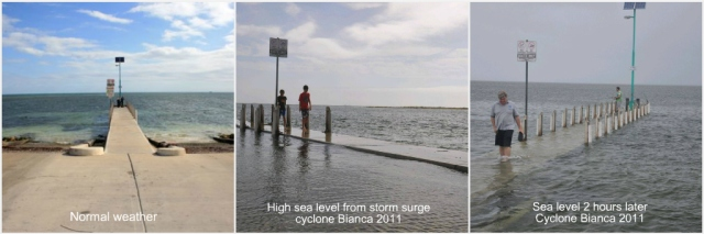 Safety bay jetty - storm surge cyclone Bianca 2011